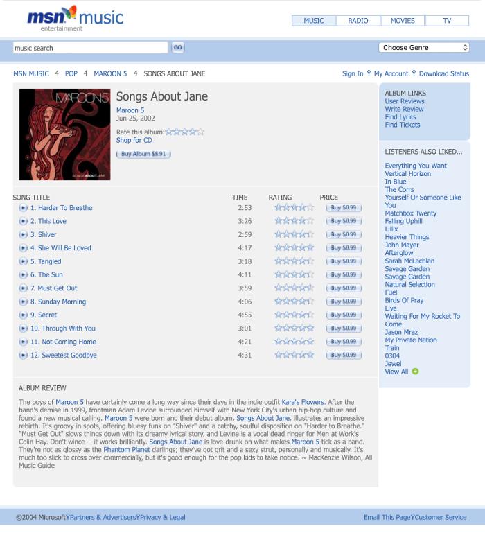 oroupcom msn music 2004